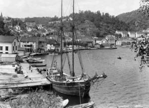1Tvedestrand Havn, 1931, Foto Wilse